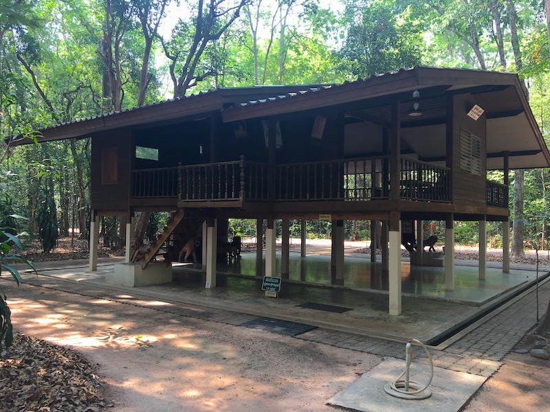 Monk kuti or library or other meeting place for monks and magee at Wat Nong Pah Pong Forest temple in Warin Chamrap.