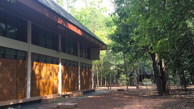 Main Sala at Wat Nong Pah Pong temple.