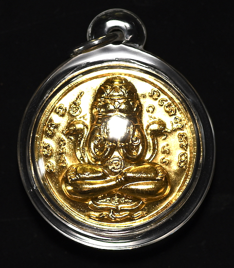 Phra Pidta is the Buddhist monk meditating deep in the Jhana realms, and this is why his amulets are so popular.