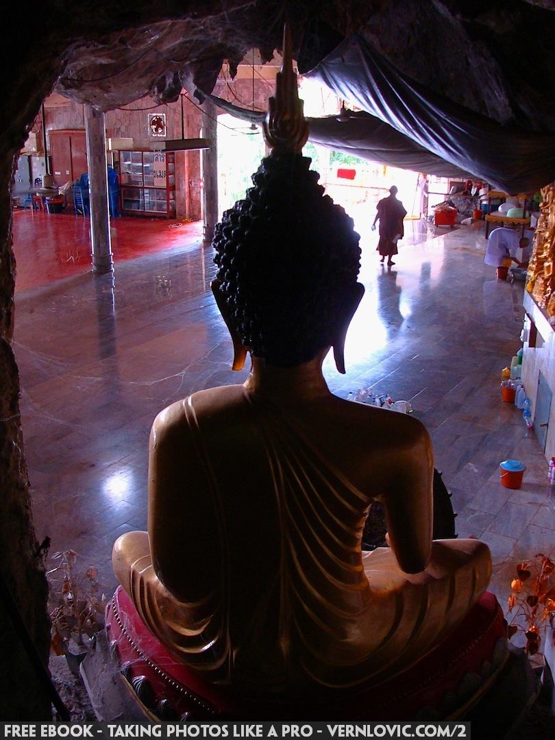 Krabi Thailand Buddha at a Buddhist temple.