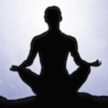 Man in meditation practice.