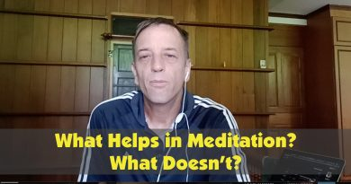 What helps in meditation? What doesn't help?